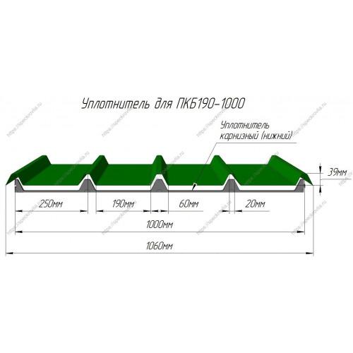 Уплотнитель для сэндвич-панелей ПКБ190 (Профхолод) нижний