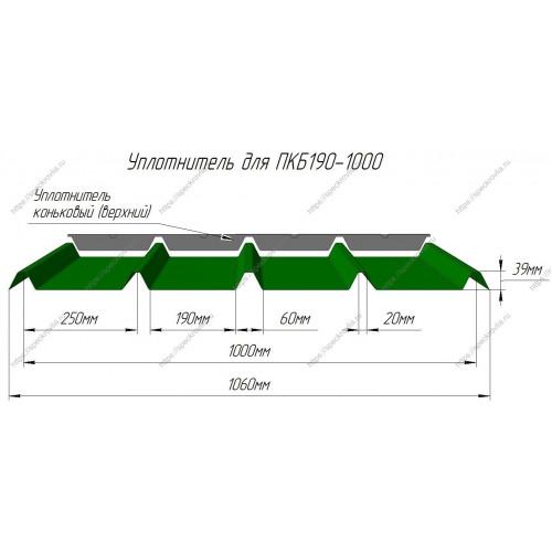 Уплотнитель для сэндвич-панелей ПКБ190 (Профхолод) верхний